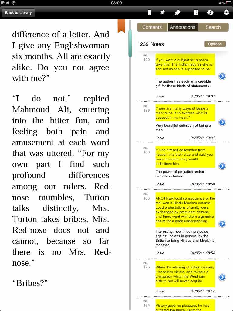 Exemple d'annotations sur sobookonlines