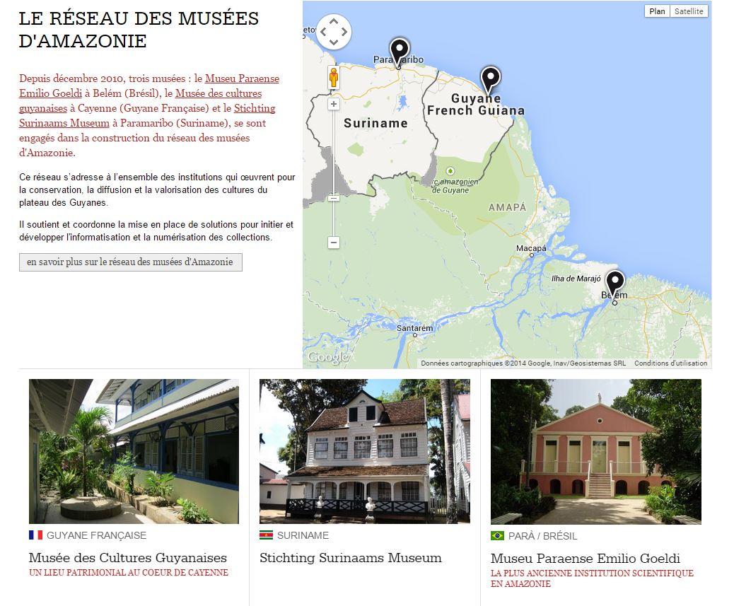 Musées réseau amazonie Guyanes