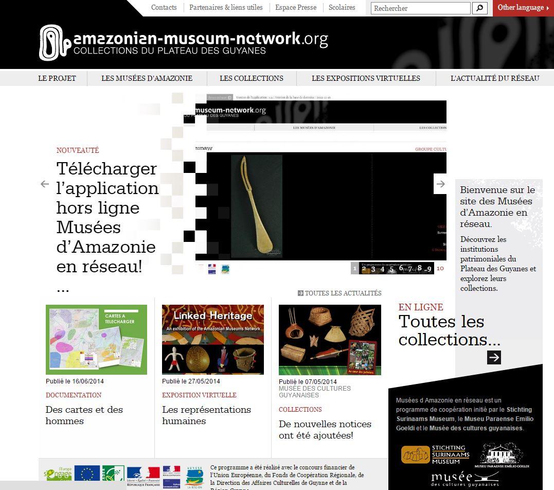 Page d'accueil réseau musées amazonie