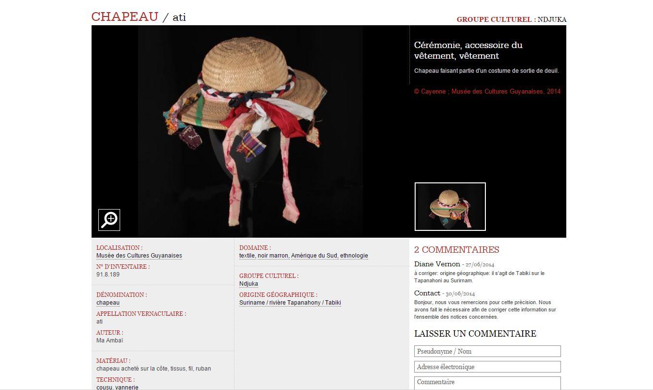 Base de donnée musées Amazonie commentaire